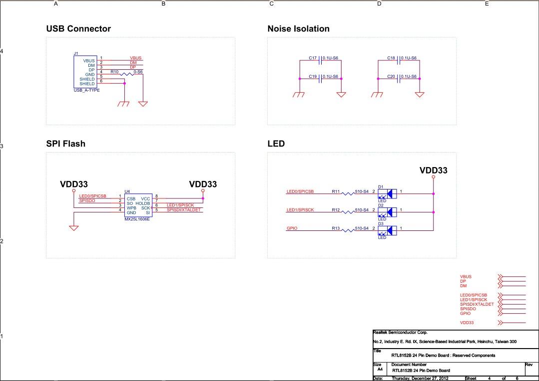 紫筹realtek网络芯片 rtl8152规格书 24pin